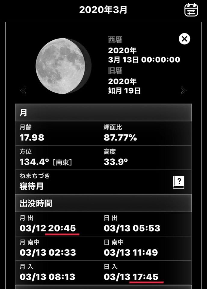 月の出を調べろ